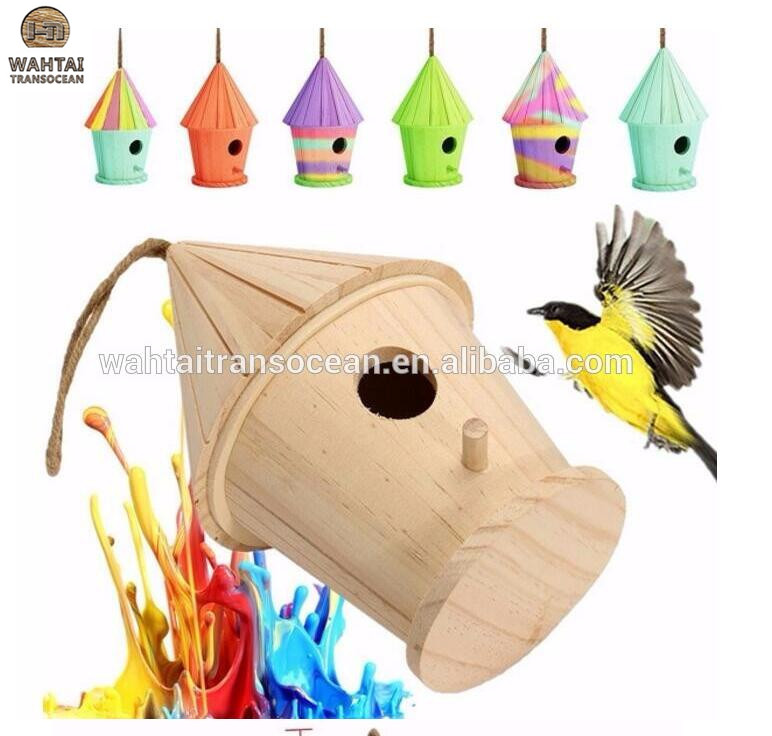 Big Wooden DIY Birdhouse/Nest Home Garden Outdoor Hanging