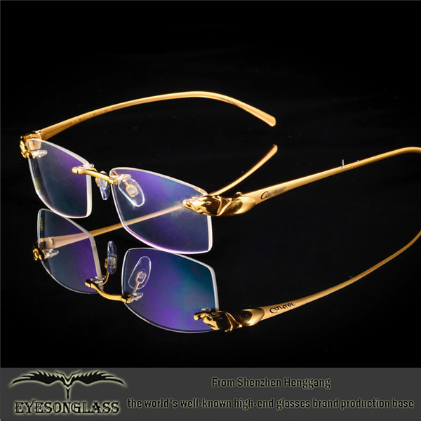9f2a58cdb32 Titanium Rimless Hingeless Reading Glasses