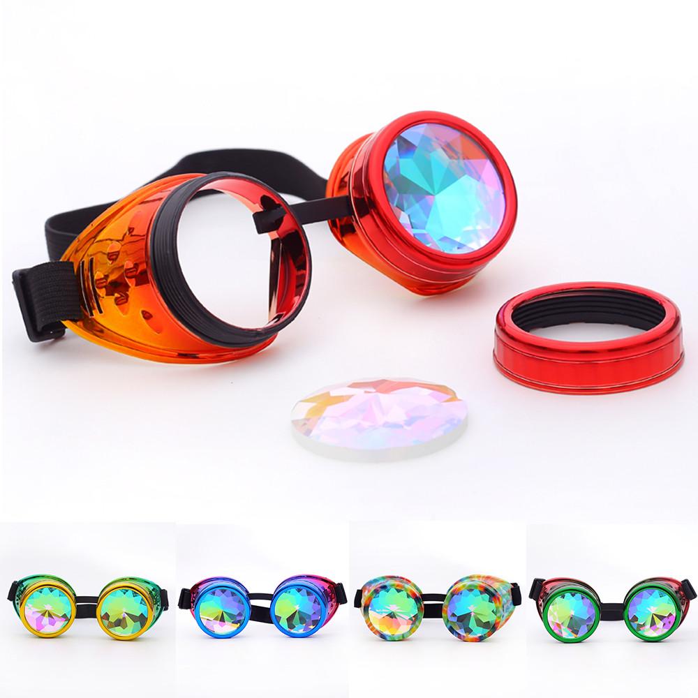 8b016e3094811 Compre Óculos De Sol Mulheres Caleidoscópio Óculos Coloridos Rave ...
