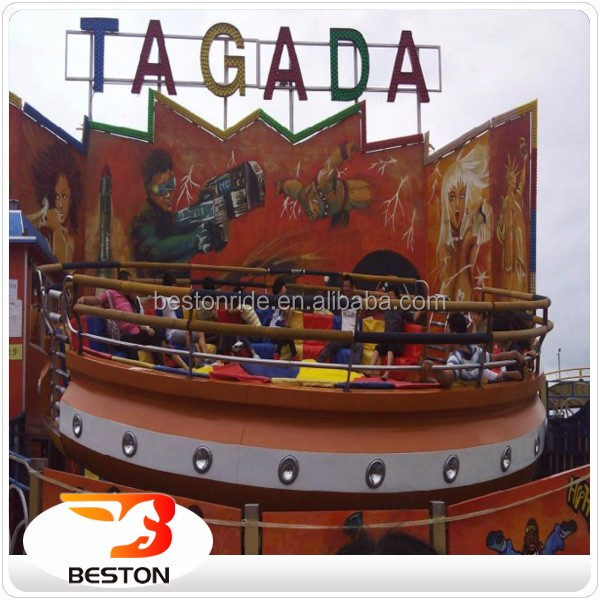Amusement park outdoor playground equipment amusement disco tagada for sale
