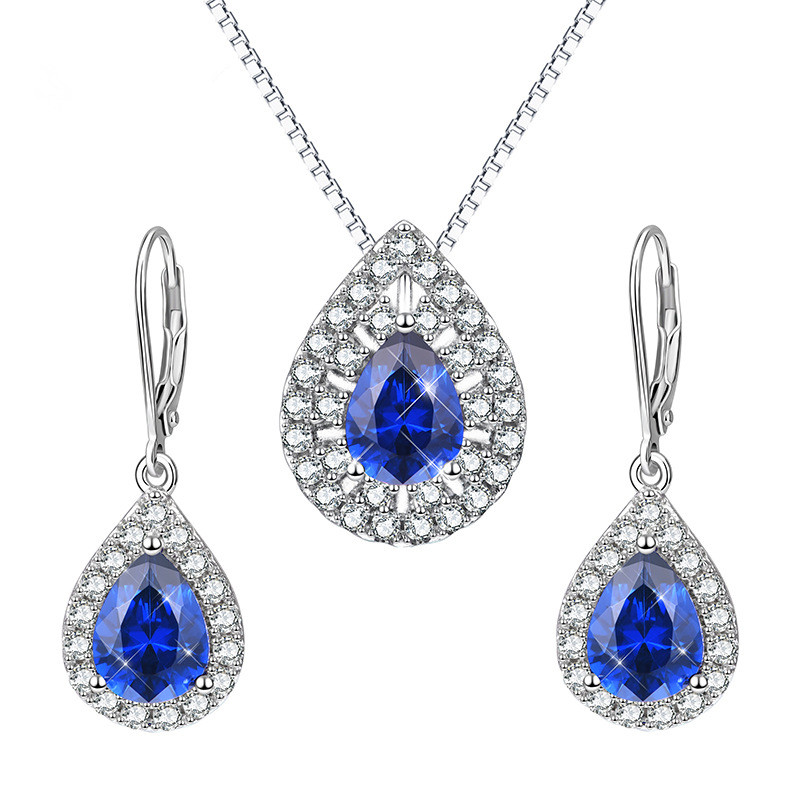 925 sterling silver CZ collection 펜 던 트 necklace earring jewelry set