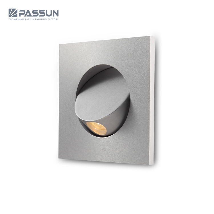 Send Recessed Lighting For Modern Interiors: Modern Interior Recessed Mounted Led Wall Light 3w Bedside