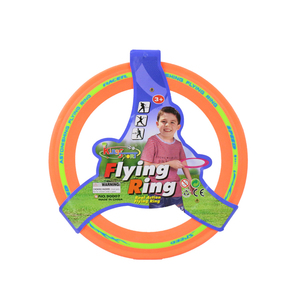 Launch boomerang toy flying disc golf ring set