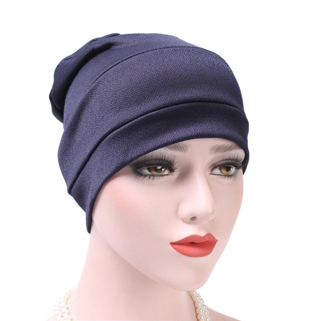 62e27c4a538 Get Quotations · Cywulin Muslim Ruffle Cancer Hat India Hat Chemo Hat  Beanie Scarf Turban Head Wrap Cap for