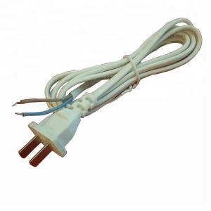 Pure copper white flat plug 0.1mm2-0.75mm2 power cord