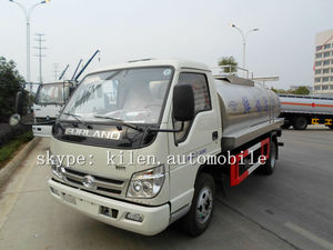 FOTON 4X2 milk transport vehicle / stainless steel tank truck