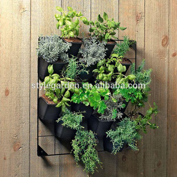 Plastic Hanging Green Living Vertical Wall Mounted Flower Plant Vertical Garden  Planter Pot