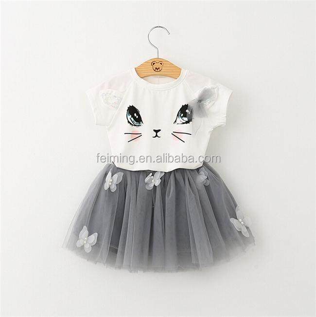 Toplu toptan bebek kız giyim seti moda çocuk giyim sıcak satış