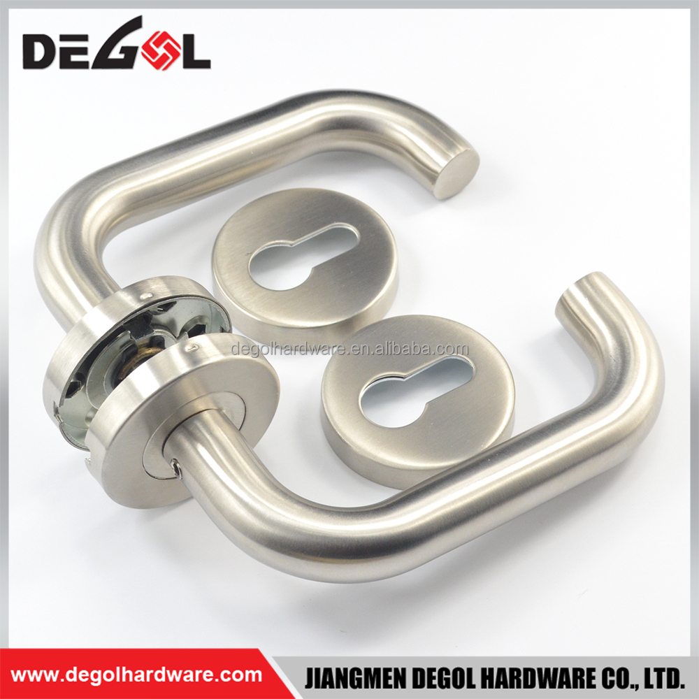 High end stainless steel U shape tube lever ss door handles for kitchen units