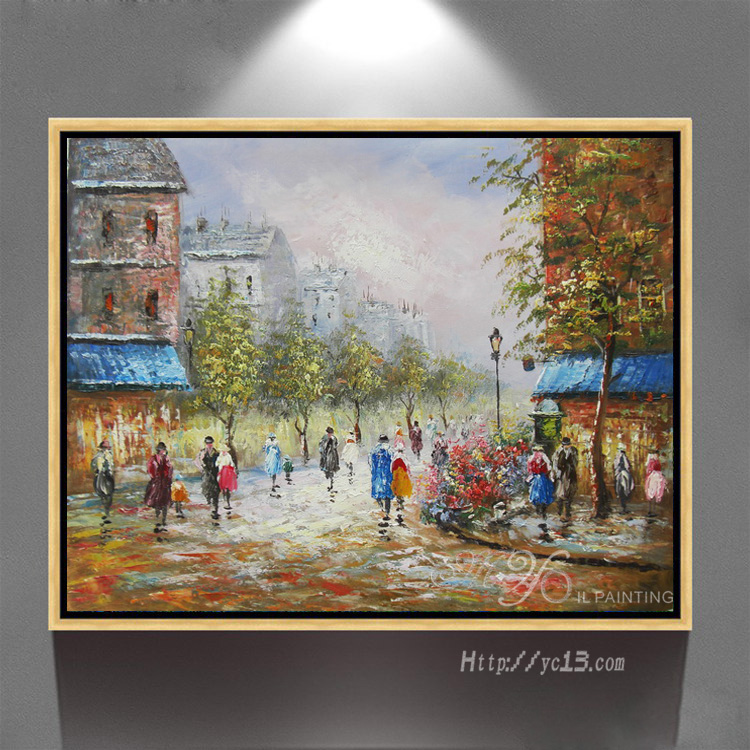 Duvar Sanatı Resimleri Için Oturma Odası Ev Dekorasyon Paris Sokak