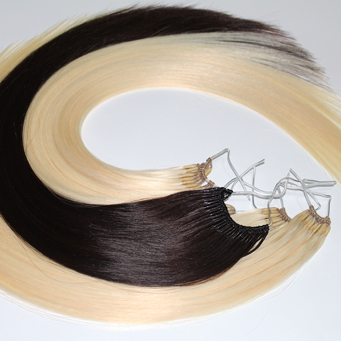 Top quality silky Europe hair brazilian human virgin hair extensions micro loop microchet supplier