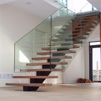 Wood Stair Case/modern Straight Staircase