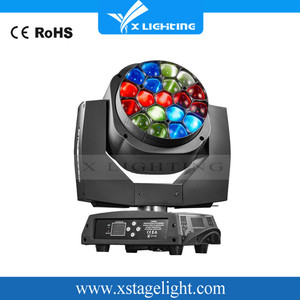 Powerful Led Zoom Head 19*15W 4 in1 Moving Heads Sharpy Beam Big eyes For Stage Light (19 Pics Bee Eyes)