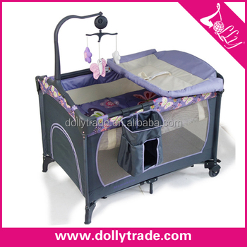 this costway cribs miss blue bed don net w mosquito bargain baby playpen t crib silver foldable bag shop infant travel bassinet music