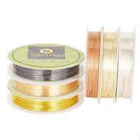 Factory Permanently Colored Copper Wire Wholesale 925 Silver Plated Copper Wire Jewelry Accessories Making