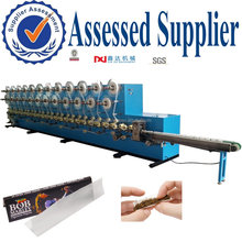 industrial cigarette rolling smoking paper gluing and slitting machines