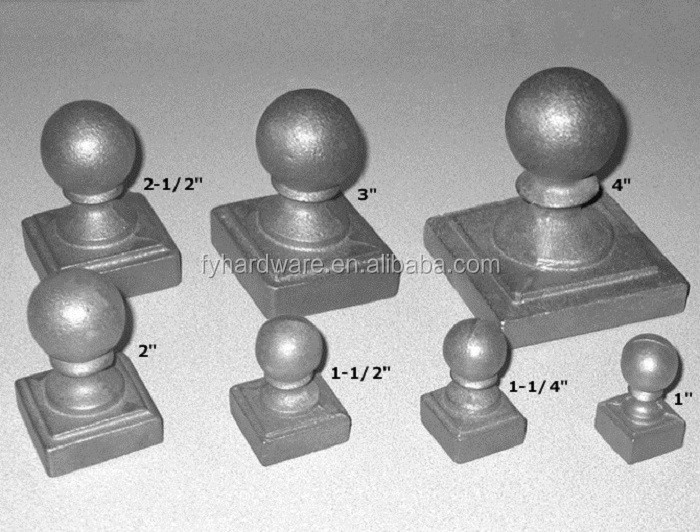 Copper Plated Aluminum Decorative Fence Post Cap 4x4 Fence