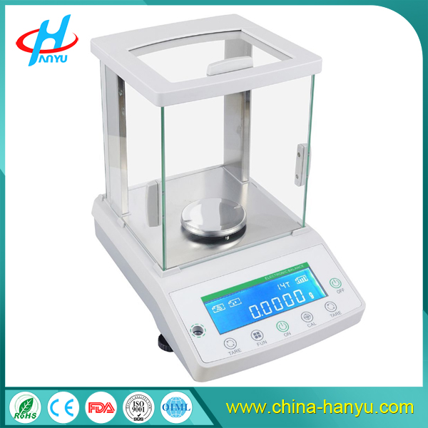 HY-FA High precision 0.0001g electronic analytical balance 0.1mg laboratory scale Touch screen or button