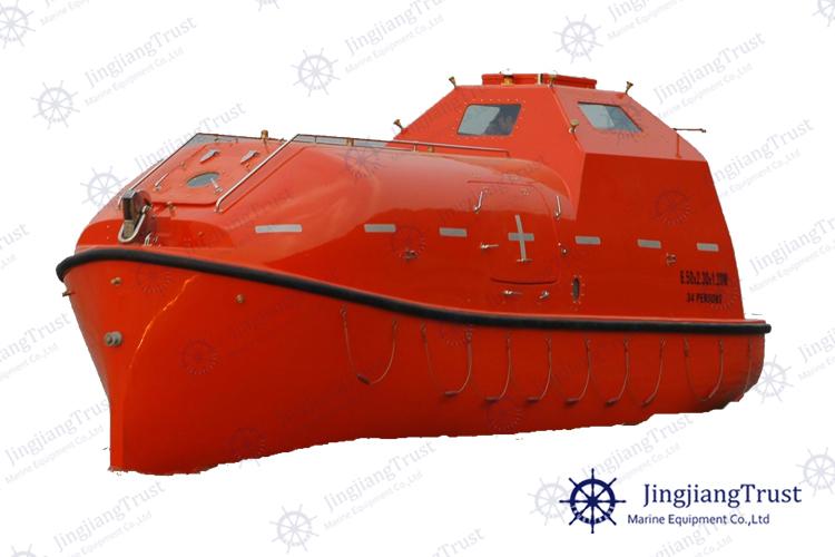Marine Fiberglass Enclosed Free Fall Lifeboat / Life Raft For Sale ...