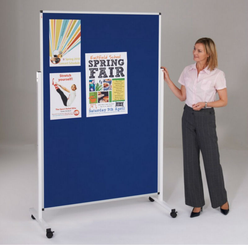 Dual sides felt notice pin board with stand floor display notice board