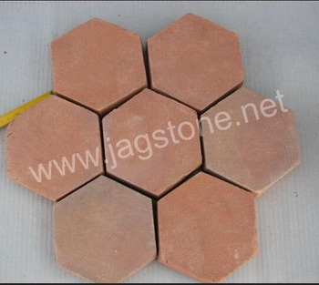Hexagon Terracotta Floor Tile H Natural Caly