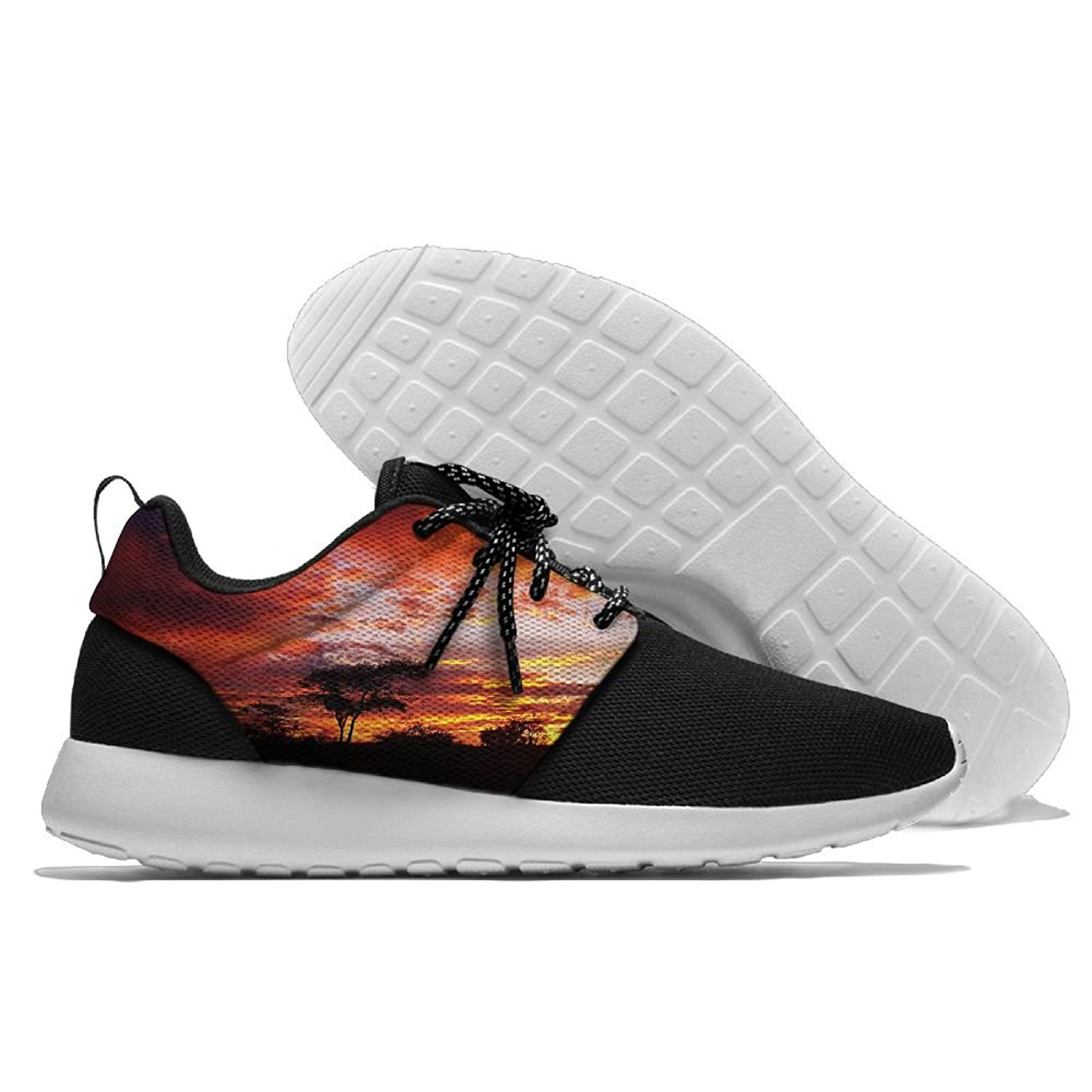 MREIO Wolf Childrens 3D Print Fly Knit Shoes Casual Sport Loafers Sneakers Running Shoes For Girls