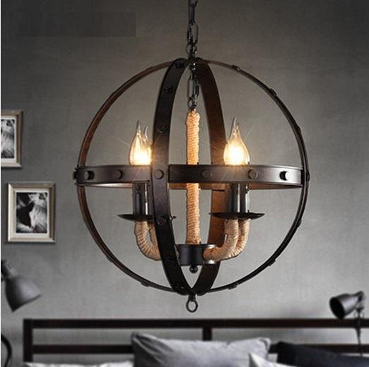 Retro Indoor Lighting Vintage Pendant Light Led Lights 24: Loft Style Hemp Rope LED Pendant Light FixturesVintage