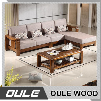 Environmental Health Wooden Frame Design Modern Sofa Set