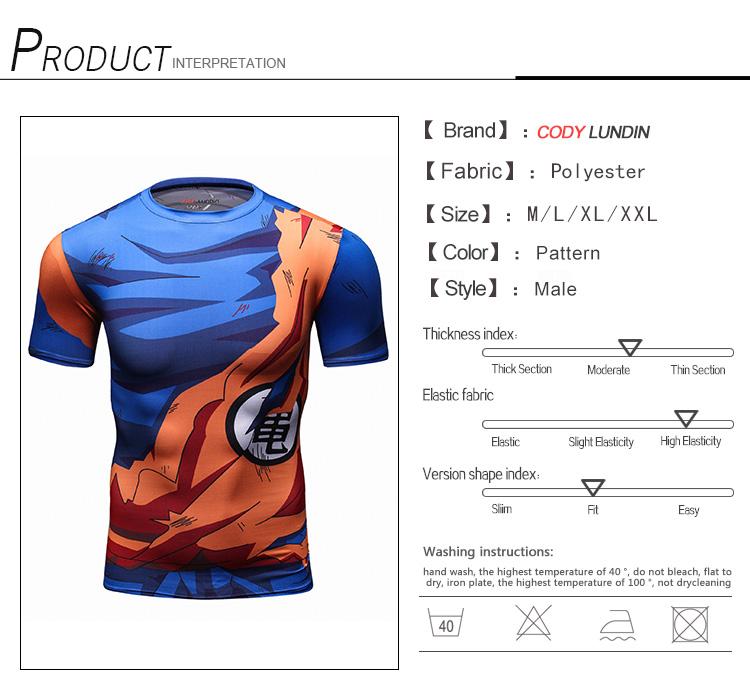 0c4e0f2368 Dragon Ball Z T-shirts Men's Funny Anime T-Shirts 3D Printing Super Saiyan