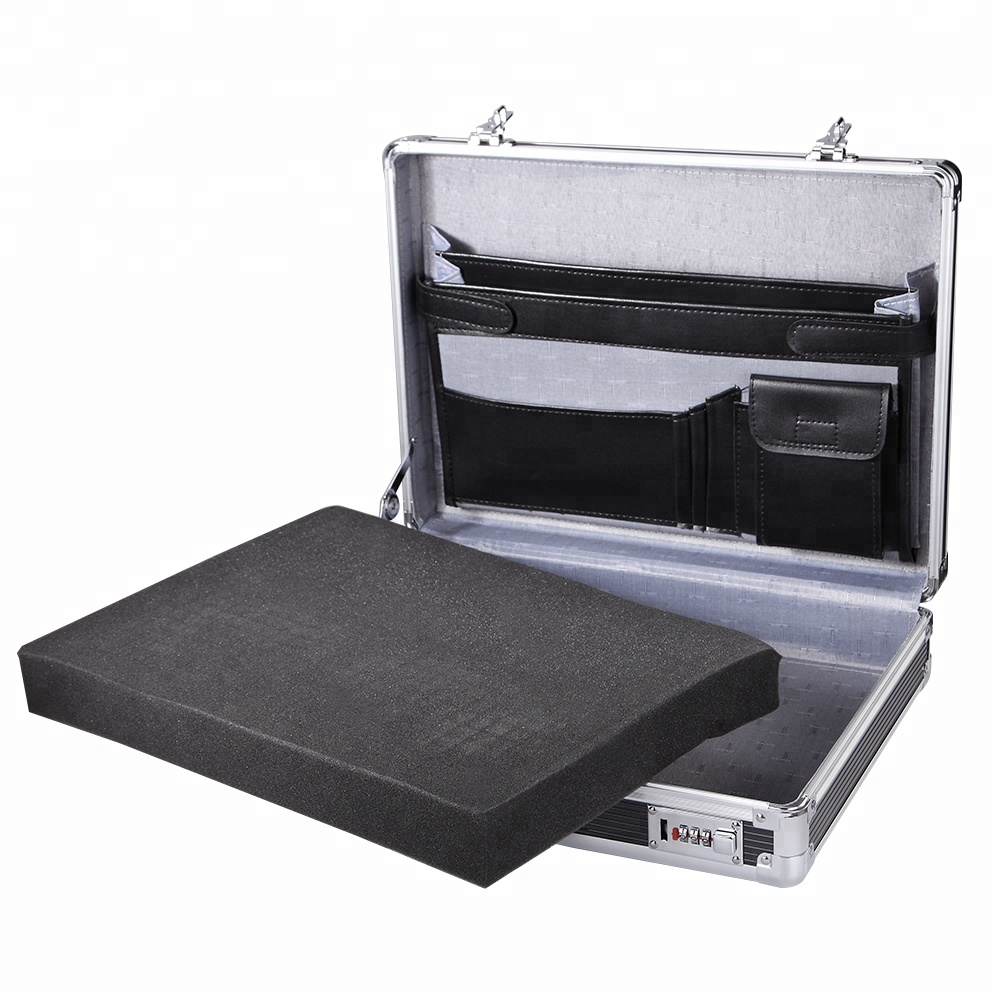 Aluminium Executive Laptop Gewatteerde Aktetas Attache Case