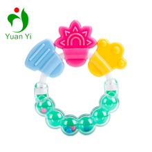 Ringing Toy BPA Free Silicone PP Baby Ring Teether