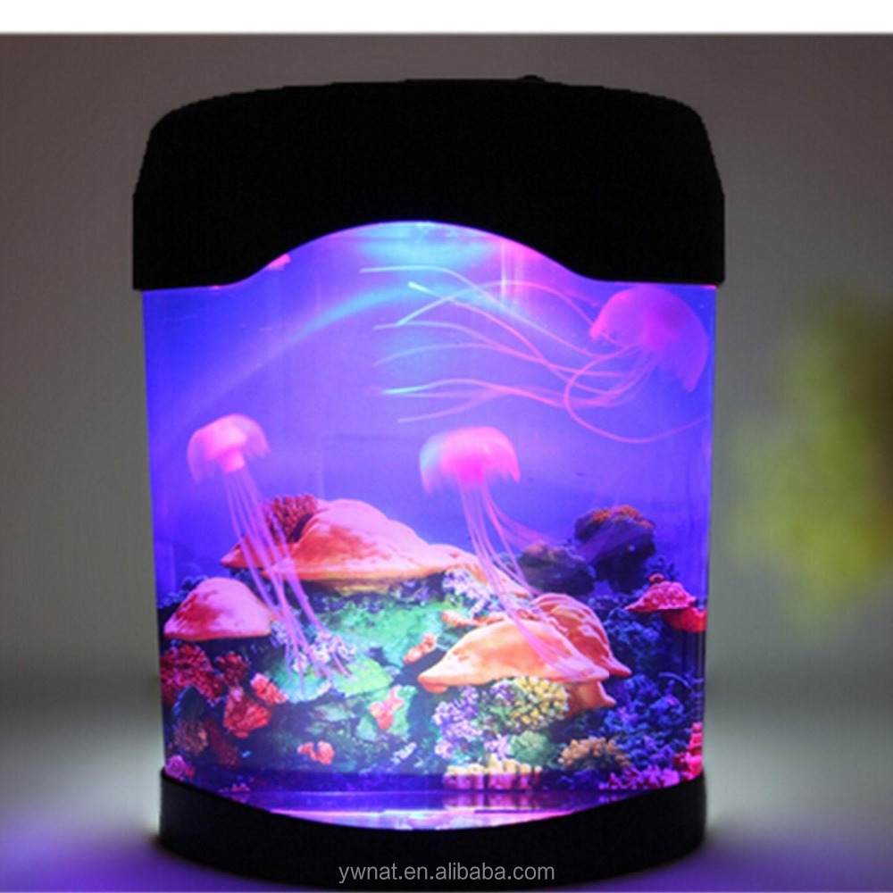 Fish tank lights for sale - Novelty Led Artificial Jellyfish Aquarium Lighting Fish Tank Night Light Lamp