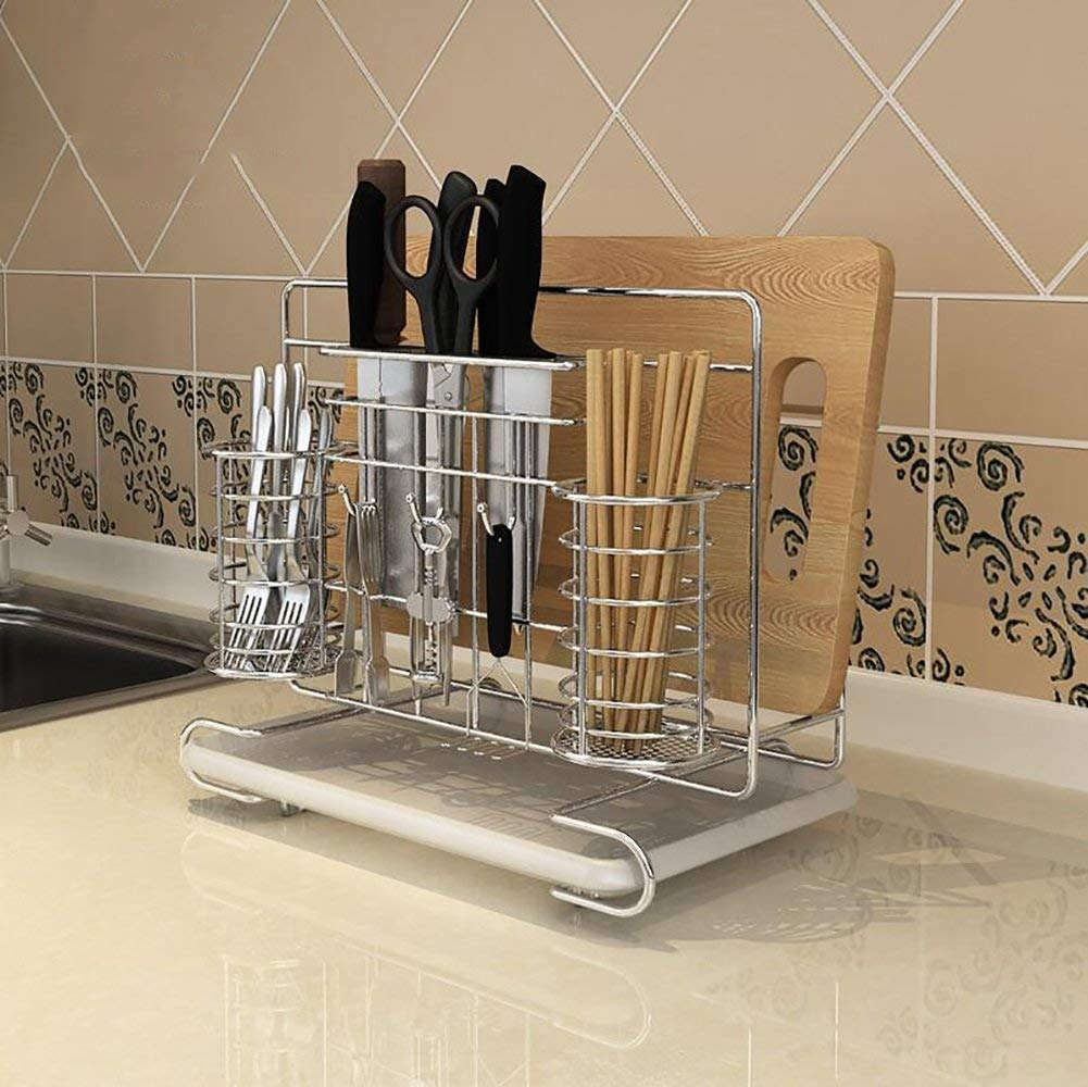 LXsnail Kitchen Storage Racks Stainless Steel Multi-purpose Shelves Kitchen Pots Cutting Board Shelves Shelves