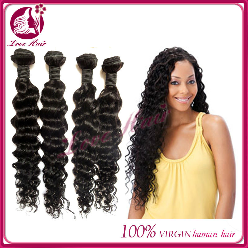 By Hair Mongolian Afro Kinky Curly Weave Human Hair Extensions Remy Hair 3 Bundles Natural Color 8-20inch Hair Weaves Hair Extensions & Wigs
