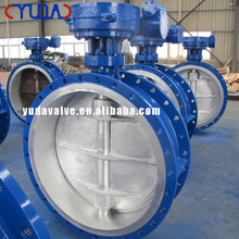 ANSI YUDA Standard of SS/ WCB/LCB/Cast Iron metal sealing butterfly valve with electric driving