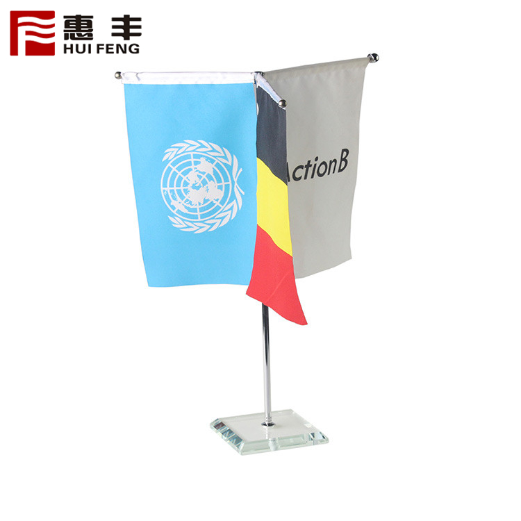 Custom Desktop Flag With Metal Pole And Base