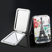 Cheap Custom made beautiful popular folding pocket makeup mirror
