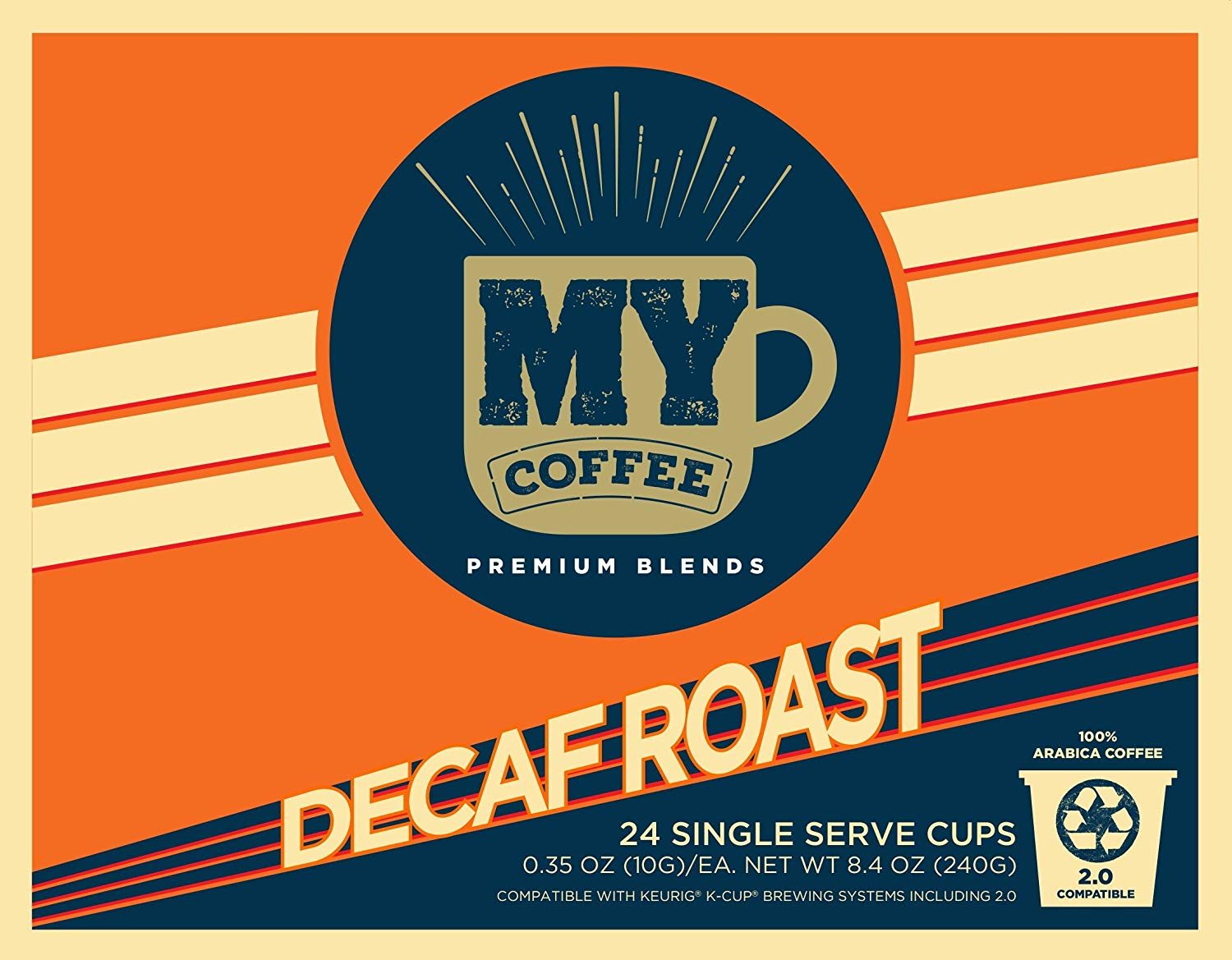 My Coffee Single Serve Coffee Pods, Decaf Dark Roast, 100 Count