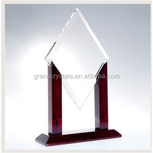 square crystal military trophy award