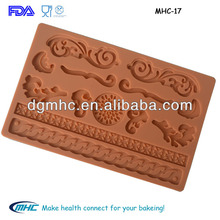 Popular dessert decor silicone molds for cake decoration