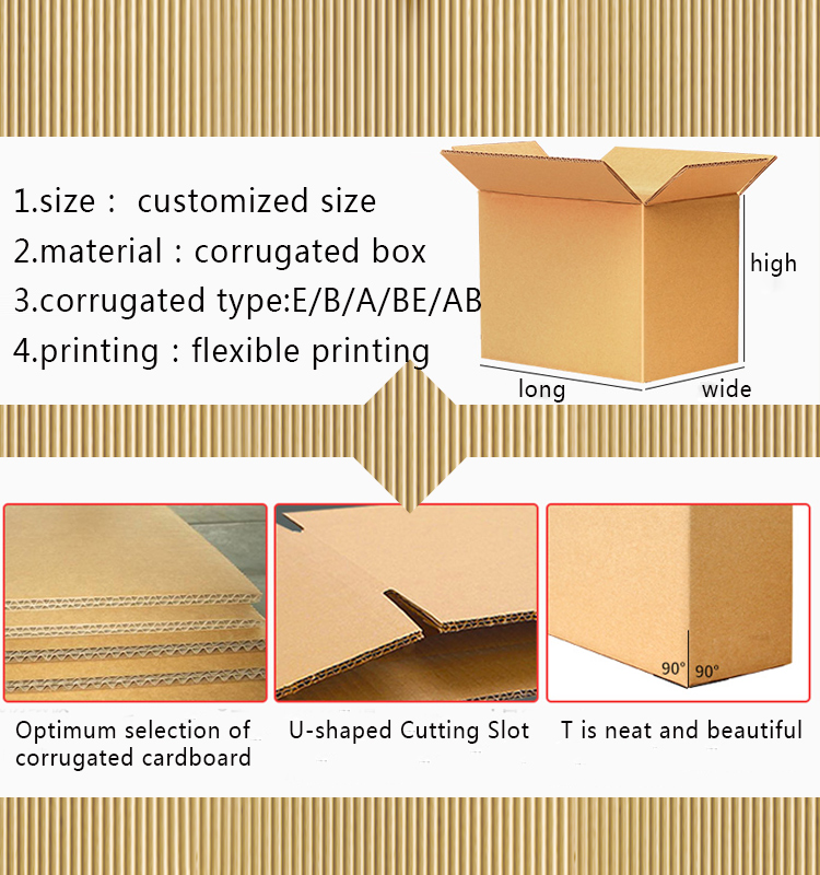 Accept custom brown and white color printed electrical appliances corrugated packaging box