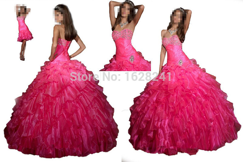 1cc6ab64a7 Buy 2015 Quinceanera dresses beading vestidos de 15 anos removable skirt  sleeveless crystal sweetheart short sweet 16 Party dress in Cheap Price on  ...