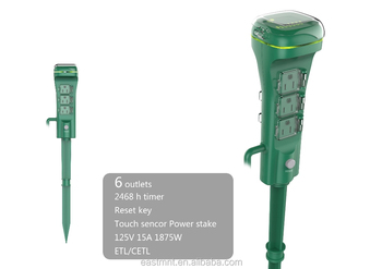Outdoor 6 Outlet Stake