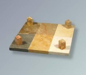 Judaica CJA-HP1070-ST-C Holon Jerusalem Stone Matzah Tray
