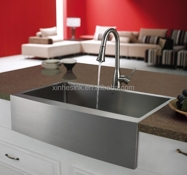 OEM American cUpc Handmade Stainless Steel Farmhouse Apron Front Kitchen Sink with Single Bowl