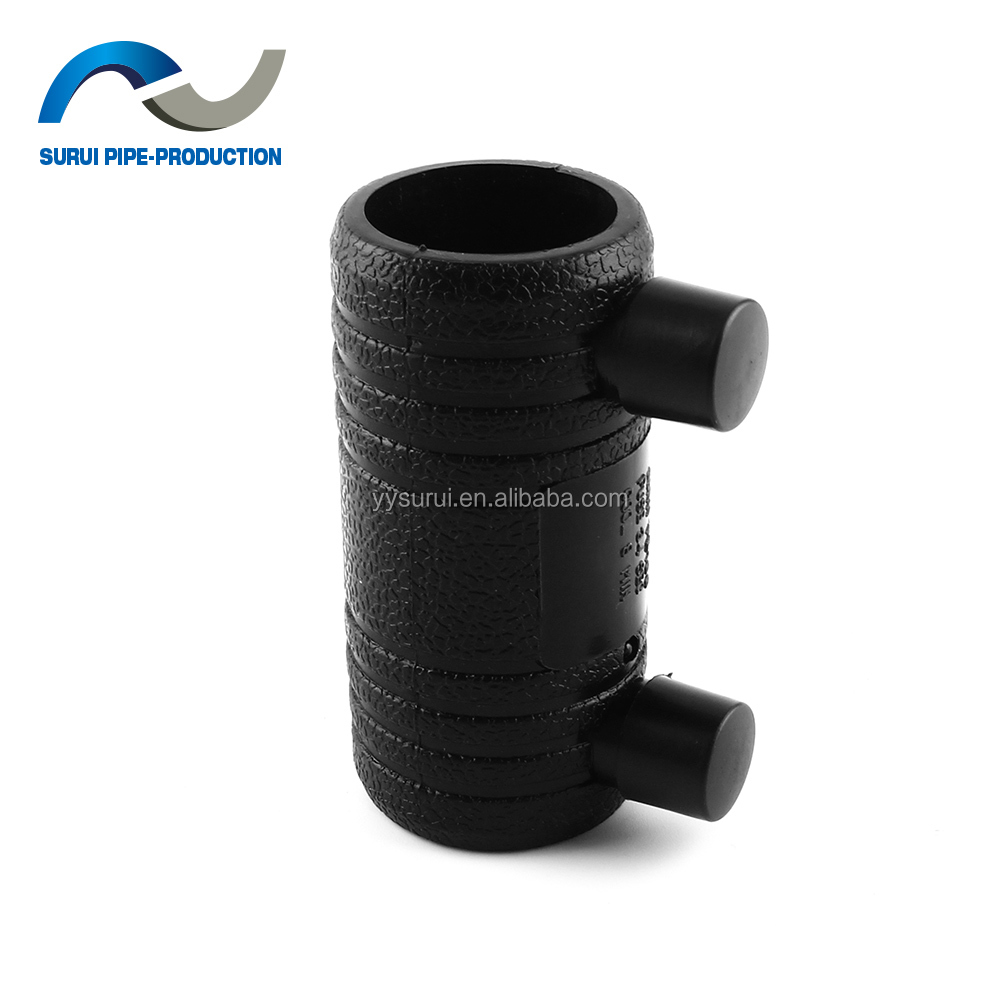 Durable PN16 D32 HDPE pipe fittings HDPE equal electrofusion coupling/electrofusion hdpe coupler