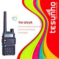 TESUNHO TH-UV7R FM RADIO 76-108MHZ 25 MEMORY STORAGE 8W COLOR RED BLUE BLACK YELLOW THAILAND WALKIE TALKIE