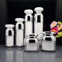 Hot selling Chinese factory luxury white airless pump empty cosmetic bottles and jars