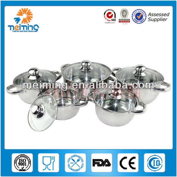 10 pcs OEM surgical stainless steel cookware
