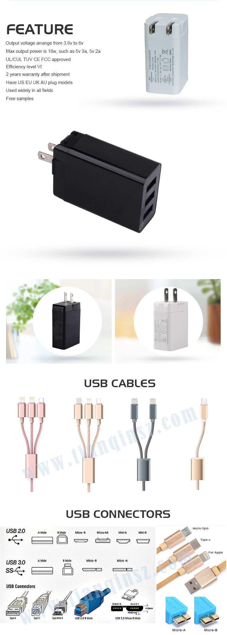 Level VI multi port usb charger with ULCUL GS TUV CE FCC ROHS CB SAA C-tick,2 years warranty